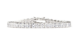 CZ by Kenneth Jay Lane STUNNING Cushion Square Cut Tennis Bracelet KBR12... - $69.50
