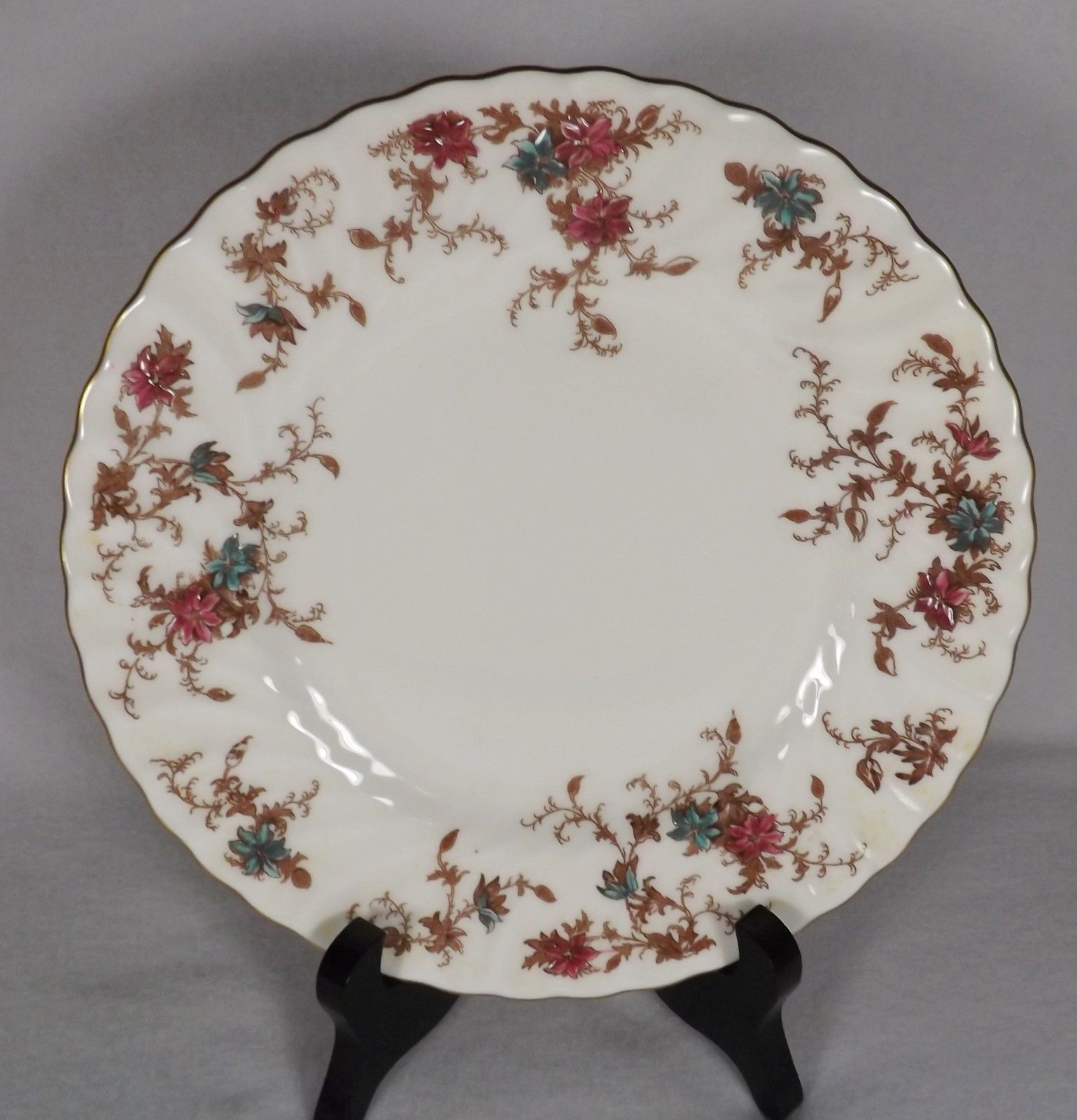3 Tier Vintage Floral Ceramic Cake Stand Cupcake WLSding Plate Party Handle X8J2