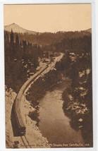 Railroad Train Mt Shasta Sacramento River California sepia postcard - $5.94