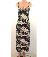 Cristina  Love  Empire Waist  Flirty Maxi  Dress. Black/Beige - $32.99