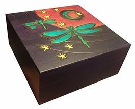 Dragonfly Moon Handmade Wooden Box Linden Wood Keepsake Polish Jewelry Box - €31,52 EUR