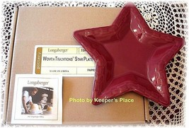 Longaberger Woven Tradition Star Plate Pottery Paprika Retired New In Box - $23.00