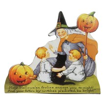 "CC Home Furnishings 9.5"" Scripted Glitter Witch Vintage Halloween Sign D... - $11.62"
