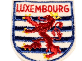 FREE SHIP: Vintage Luxembourg Sew-on Fabric Patch - Embroidered Souvenir - $13.10