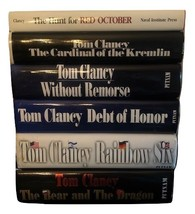 6 FOR 1 BOOKS: TOM CLANCY JACK RYAN SERIES THE HUNT FOR RED OCTOBER 0870... - $42.50