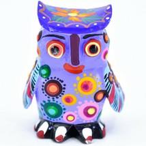 Handmade Alebrijes Oaxacan Copal Wood Carving Painted Owl Bird Figurine