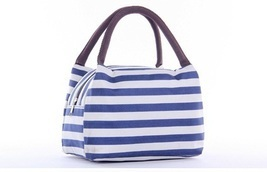 Oxford Stripe Waterproof Field Trip Picnic Bags - $14.50