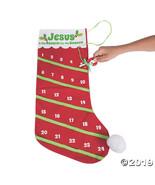 Advent Countdown Stocking - $15.25