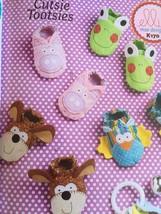 Ellie Mae Designs Sewing Pattern K170 K632 Baby Cutsie Tootsie Booties Size S-XL - $14.53