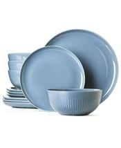 Hotel Collection Modern Porcelain 12-Pc. Dinnerware set Serv / 4 Color L... - $134.99