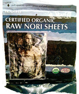 Raw Organic Nori Sheets 10 qty Pack Certified Vegan Kosher Sushi Wrap Pa... - $14.84