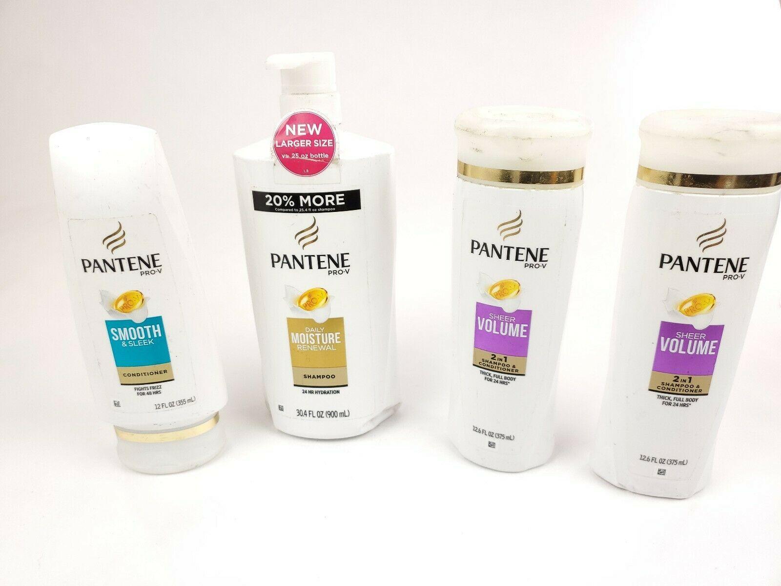 (4) Pantene Pro-V Shampoo & Conditioner (1) Shampoo, (1) Conditioner, (2) 2 in 1 - $24.95
