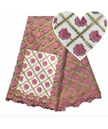 3D Applique Pink Swiss Voile Lace Switzerland 2018 Latest African Fabric... - $88.79