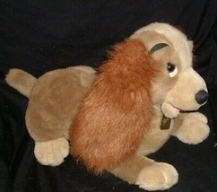 "16"" LAYING LADY AND THE TRAMP DISNEY STORE PUPPY DOG STUFFED ANIMAL PLUS... - $16.83"