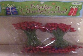 3 NEW Packages Christmas Berry Picks - $9.41