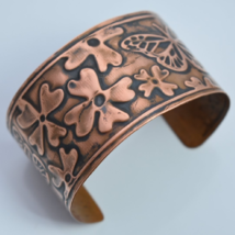 Copper embossed cuff bracelet - $30.00