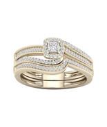 10k Yellow Gold 3/8ct TDW Diamond Bypass Birdal Ring - £300.66 GBP
