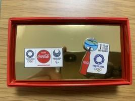 Set of 2 Coca-Cola pins Tokyo 2020 Olympic Games pins - £50.76 GBP