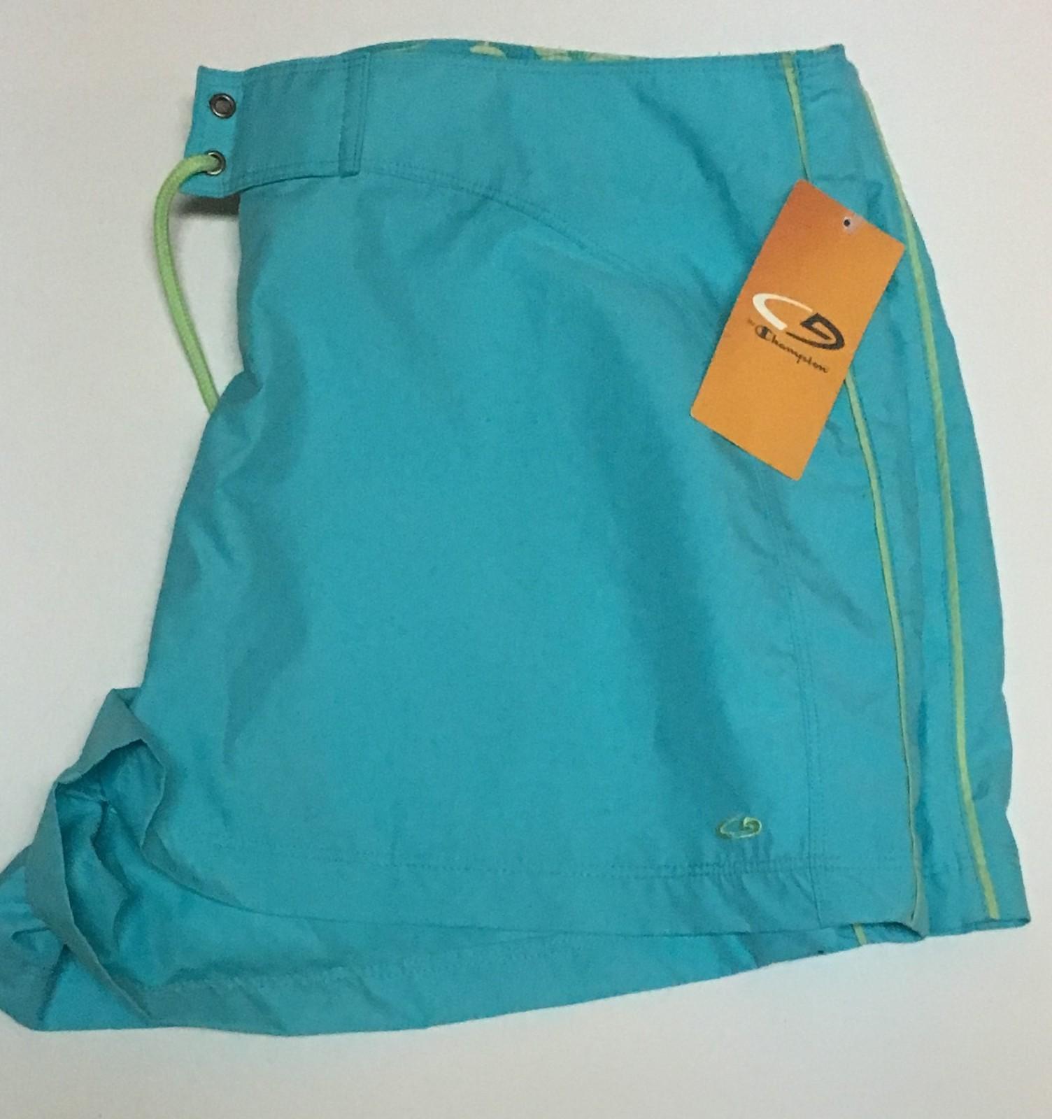 Champion Activewear Shorts Colorwave Aqua Sz XL Velcro Drawstring image 4