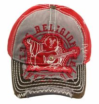 True Religion Men's Premium Vintage Distressed Buddha Trucker Hat Cap TR1101 image 11