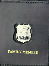 NYC Police Officer's Family Member Money/CC/DL Wallet w/Cut Letters Mini... - $37.36