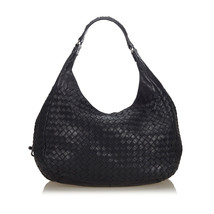 Pre-Loved Bottega Veneta Black Others Leather Intrecciato Campana Hobo B... - $812.19 CAD