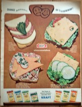 Kraft Cheesewiches Print Magazine Advertisements 1964 - $5.99