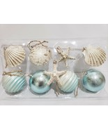 GORGEOUS Coastal Beach Starfish Sand Dollar Aqua Christmas Ornaments Dec... - $28.99