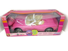 Barbie Radio Control Car Pink CORVETTE 2001 NEW in Sealed Box Remote Con... - $138.59