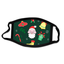 Holiday Christmas Santa Decorative Mask Spread Holiday Cheer Stay Safe ! - $5.93