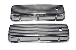 A-Team Performance Tall Finned Polished Aluminum Valve Covers Compatible with Ch