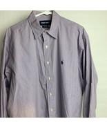 Men's Polo Golf Ralph Lauren Button Up Dress Shirt Size L Purple - $22.77