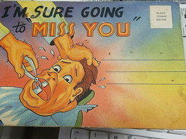 "Vintage Tichnor Bros ""I'm Sure Going to Miss You"" Postcard w/foldout Pics  - $9.99"