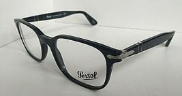 New Persol 3118-V 95 Black 53mm Rectangular Eyeglasses Frame Italy  - $97.99