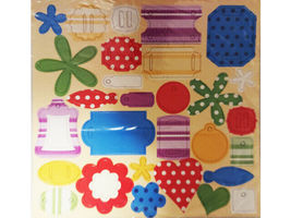Chipboard Accent Pieces, Set of 6 12x12 Sheets, Bright Colors image 3