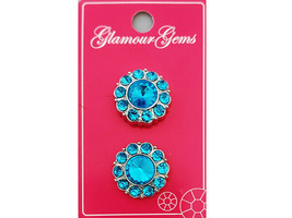Blumenthal Glamour Buttons, Set of 2, Blue