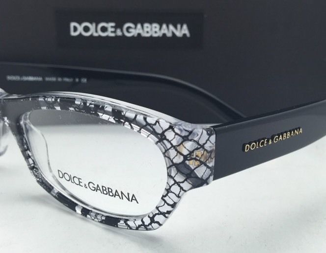 d946e94310f New DOLCE   GABBANA Rx-able Eyeglasses DG 3115 1895 51-17 Clear Black