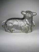 Cast Metal Aluminum Cake Mold Lamb Sheep Size 10 Inch Base Vintage Marke... - $93.49