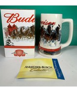 "NEW 2011 Budweiser Clydesdales Holiday Beer Stein ""STRENGTH POWER BEAUTY... - $24.74"