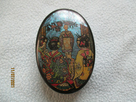 Antique Chinese Lacquerware Pill / Trinket  Box - $22.07