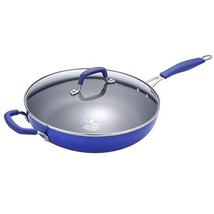 Momscook Saute Pan 12-Inch Classic Brights Hard Enamel Aluminum Nonstick Covered - $34.26