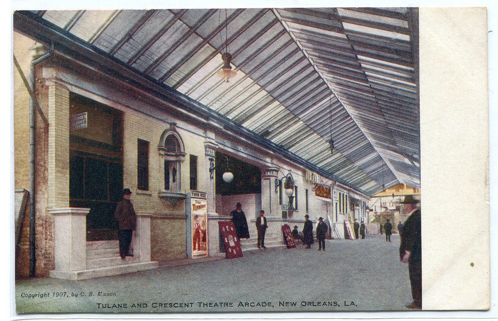 Tulane Crescent Theater Arcade New Orleans Louisiana 1907c postcard