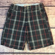 American Eagle Shorts Men's Size 28 Classic Legnth Blue Red Plaid - $342,33 MXN