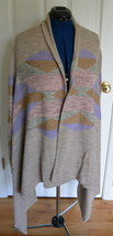 Lauren Ralph Lauren Offene Strickjacke Pullover 3X Plus Drapiert Baumwolle Nwt - $119.95