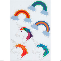 Kikkerland Vinyl UNICORN & RAINBOW Refrigerator Fridge Magnets SET OF 6 ... - £4.54 GBP