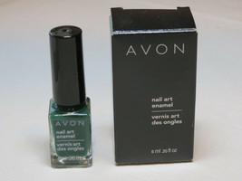 Avon nail Art Enamel Styled Green 6 ml 0.20 fl oz nail polish mani pedi - $10.66
