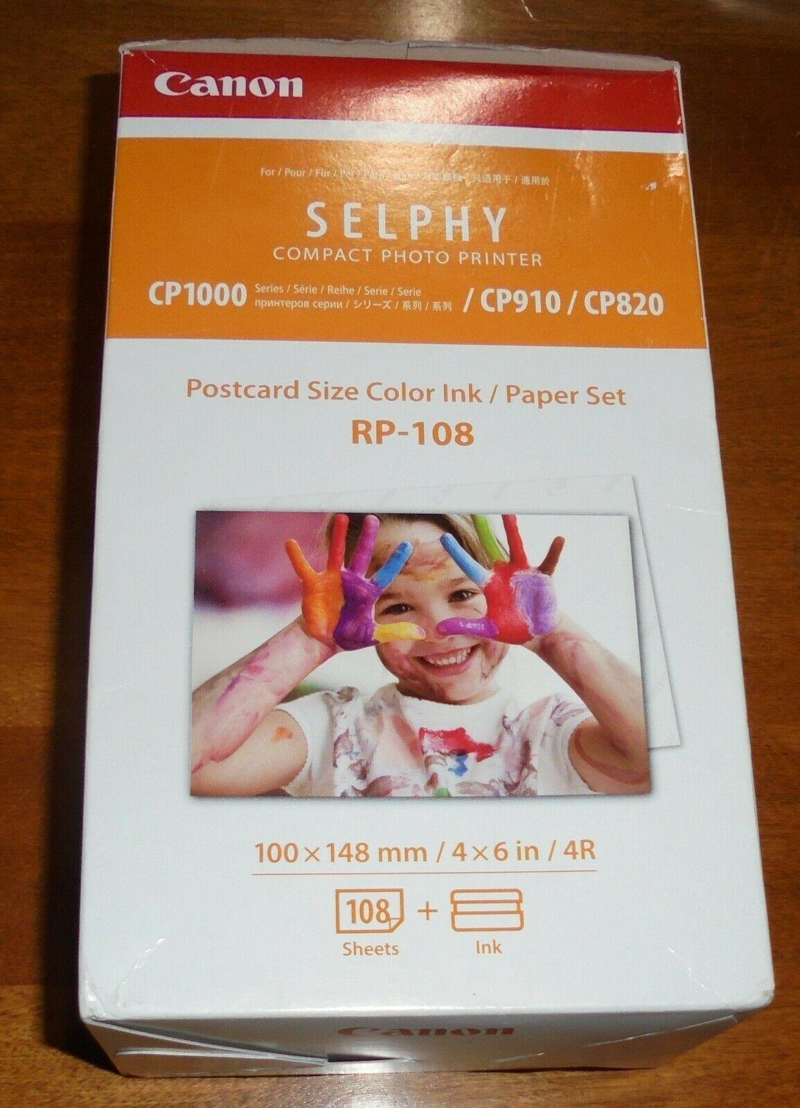 """Canon RP-108  Color Ink Cartridges & Postcard Paper Set 4""""x6"""" 108 Sheets NIB image 2"""