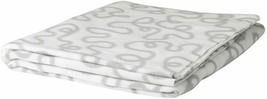 "IKEA KRAKRIS Fleece Light Weight White Gray Swirl Blanket Throw 51x63"" NEW - $23.76"