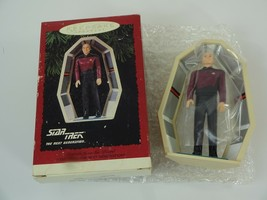 Jean-Luc Picard Star Trek 1995 Hallmark Keepsake Christmas Holiday Ornam... - $10.34