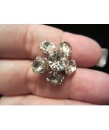 vintage flower brooch pin silver tone petite scatter pin Petite - $18.00